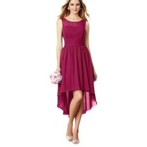 ALFRED ANGELO BRIDESMAID DRESS HIGH LOW CLARET
